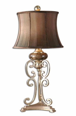 Marcella Antique Silver Table Lamp with Detailing Brand Uttermost