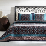 Mariah Queen Set; 1-Quilt 90x90 w/2 Shams 21x27