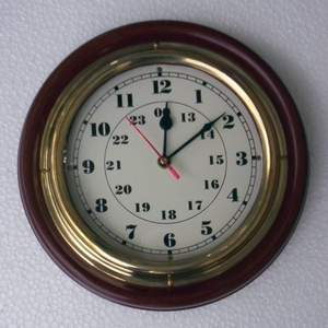 "Marine Wall  Clock 12"" Nautical Ship Brand Wild Orchid"
