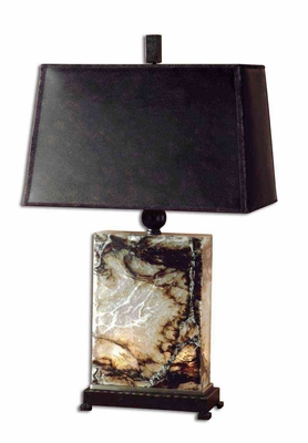 Marius Marble Table Lamp with Bronze Metal Detailing Brand Uttermost