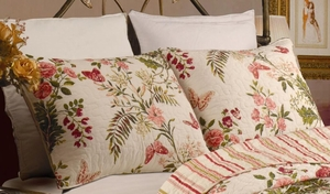 Marquis Collection Butterflies Multi Color Standard Sham by Greenland Home Fashions