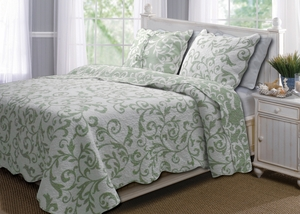 Marquis Collection Felicity Spa Green Color Standard Sham by Greenland Home Fashions