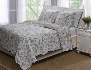 Marquis Collection Felicity Taupe Color Standard Sham by Greenland Home Fashions