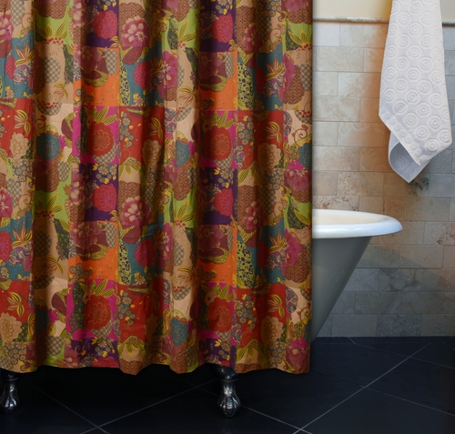 ... Jewel Multi Color Shower Curtain Bath by Greenland Home Fashions