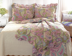 Marquis Collection Portia Paisley Sage Color King Sham by Greenland Home Fashions
