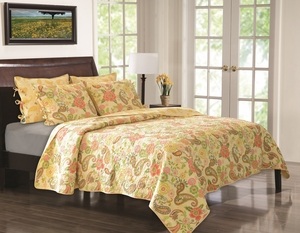 Marquis Collection Sunset Paisley Multi Color Standard Sham by Greenland Home Fashions