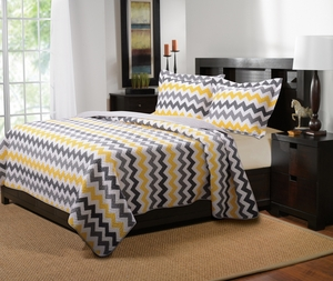 Marquis Collection Vida Yellow/Gray Color King Sham by Greenland Home Fashions
