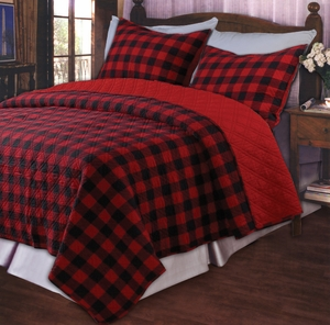 Marquis Collection Western Plaid Red Color King Sham by Greenland Home Fashions