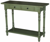 Marseille Customary Stylized Simplicity Entry Table Green by 4D Concepts