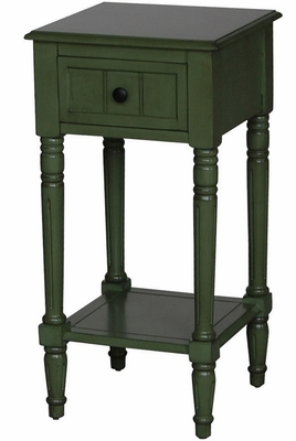Marseille Unique Stylized Simplicity Entry Table Green by 4D Concepts