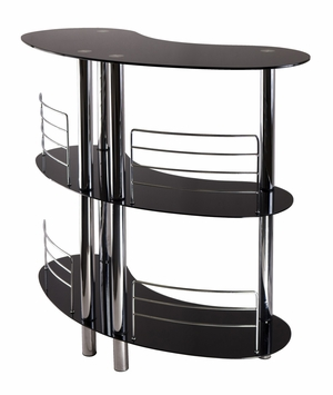 Winsome Wood Martini Entertainment Bar with Glossy Look