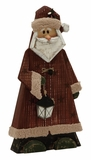 "Marvelous Wood Metal Santa 12""W, 24""H - 60621 by Benzara"