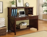 Marvelously Styled Wooden Adeline Desk and Hutch by Office Star