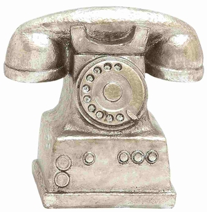 Massachusetts Silver Polished Telephone D�cor Brand Benzara