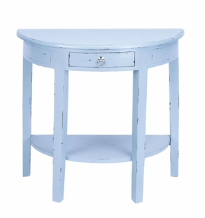 Master Craft Wooden Console Table in Shabby  Light Gray Finish Brand Woodland
