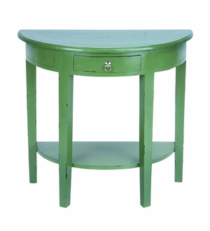 Master Craft Wooden Console Table in Shabby Green Finish Brand Woodland