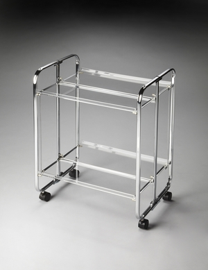 Matchless Splurge Acrylic Trolly Server by Butler Specialty