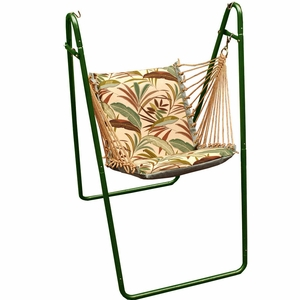 Matisse Fern or Blue Solid Swing chair with Stand by Alogma
