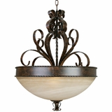 Mckensi Collection Amazing Styled 4 Lights Pendant Lighting in Bronze by Yosemite Home Decor