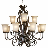 Mckensi Collection Attractive Stylized 12 Lights Chandelier in Bronze Patina by Yosemite Home Decor