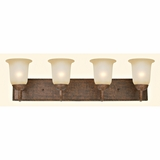Mckensi Collection Beautiful 4 Lights Vanity Lighting in Bronze Patina by Yosemite Home Decor