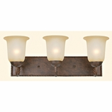 Mckensi Collection Creative Stylized 3 Light Vanity Lighting in Bronze Patina by Yosemite Home Decor
