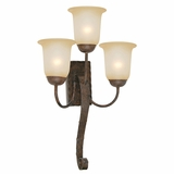 Mckensi Collection Creative Stylized 3 Light Wall sconce in Bronze by Yosemite Home Decor