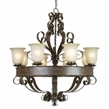 Mckensi Collection Elegant Stylized 8 Lights Chandelier with shade in Bronze Patina by Yosemite Home Decor