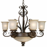 Mckensi Collection Unique Styled Beautiful 9 Lights Chandelier in Bronze Patina by Yosemite Home Decor