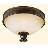 Mckensi Lighting Collection Enthralling Stylized 3 Light Flush Mount in Bronze Patina by Yosemite Home Decor