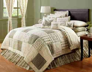 Meadowsedge Patchwork Quilt King, Handmade Quilt, 110X97 Brand VHC