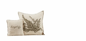 "Meadowsedge Pillow Fern 16X16"" Brand VHC"