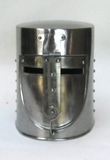 Medieval Teutonic Armor Iron Helmet Showpiece in Silver by IOTC