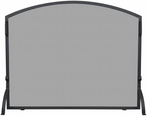 Medium Single Panel Black Wrought Iron Arch Top Screen by Blue Rhino