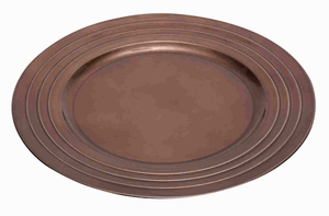 Melamine Charger Plates in Bronze Color with Elegant Design Brand Woodland