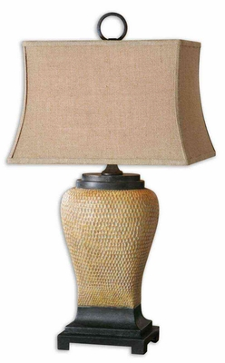 Melitta Ceramic Table Lamp with Intricate Detailing Brand Uttermost