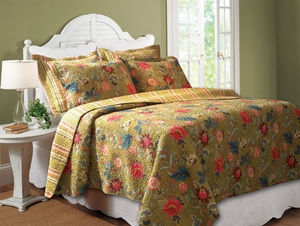 Mendocino Quilt Superbly Designed Fantastic Queen Set Brand Greenland