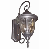 Merili Collection 2 Lights Exterior Light Wall Mount in Black by Yosemite Home Decor