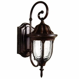 Merili Collection Adorably Styled 1 Light Exterior Light Wall Mount in Brown by Yosemite Home Decor