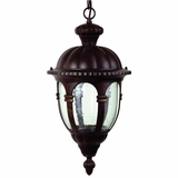 Merili Collection Alluring 2 Lights Hanging Exterior Light in Brown Frame by Yosemite Home Decor