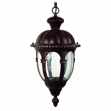 Merili Collection Charmingly Styled Black Frame with Seedy Glass Hanging Exterior Light by Yosemite Home Decor