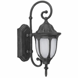 Merili Collection Creative Stylized 1 Light Exterior Light Wall Mount in Black by Yosemite Home Decor