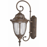 Merili Collection Fascinating 2 Light Exterior Light Brown Wall Mount by Yosemite Home Decor