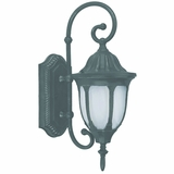 Merili Collection Fascinating Stylized 1 Light Exterior Light Wall Mountin Black by Yosemite Home Decor