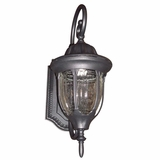 Merili Collection Historically Styled 1 Light Exterior Light Wall Mount in Black by Yosemite Home Decor