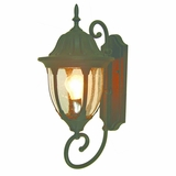 Merili Collection Uniquely Designed 1 Light Exterior Light Wall Mount in Brown by Yosemite Home Decor