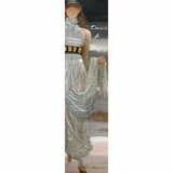 Mesmerize Styled Decorative Art White Dress Model by Yosemite Home Decor