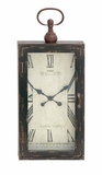Mesmerized chic Styled Wood Metal Wall Clock by Woodland Import