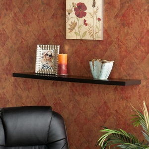 Mesmerizing Aspen Floating Shelf Black by Southern Enterprises