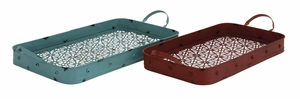 Mesmerizing Classy Styled Metal Tray by Woodland Import
